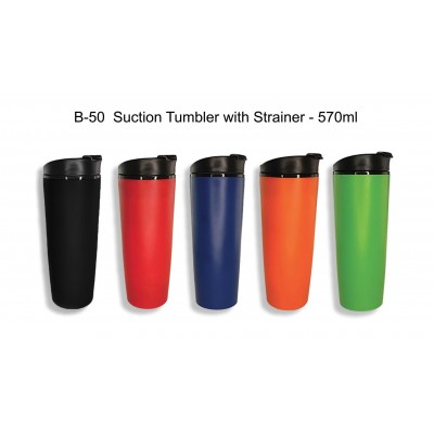Suction Tumbler with Strainer - 570ml