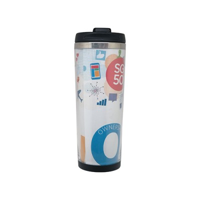 Tumbler with Paper Insert