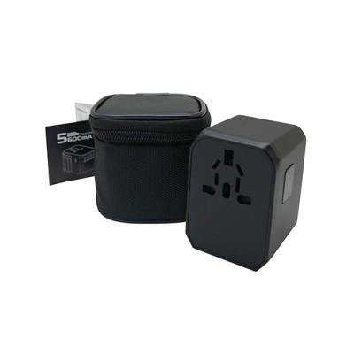 World Travel Adaptor with 4 USB + Type-C