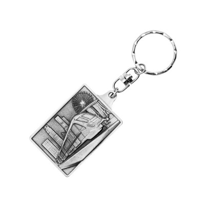 3D Pewter Keychain