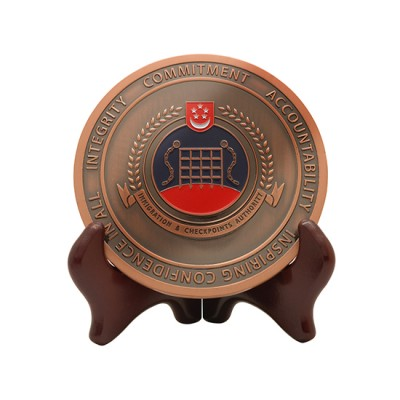 Customised Bronze Medallion with Stand