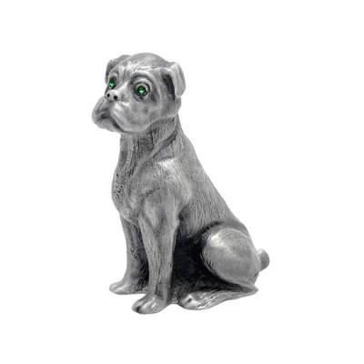 Customised 3D Pewter Bulldog Figure