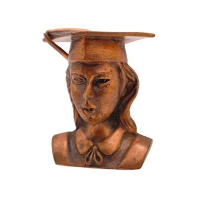Customised 3D Pewter Graduation Lady Figure