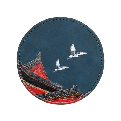 Matt PU Leather Coaster