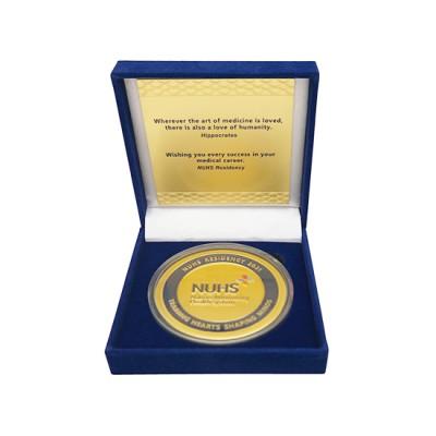 Customised Medallion with Velvet Case