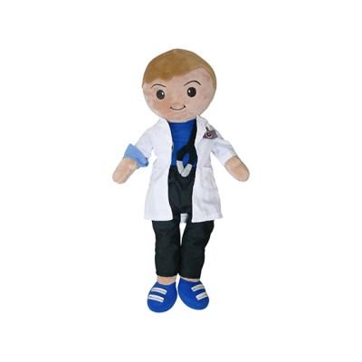 Male Doctor Plush Toy - Osvaldo - Nuestros Heroes