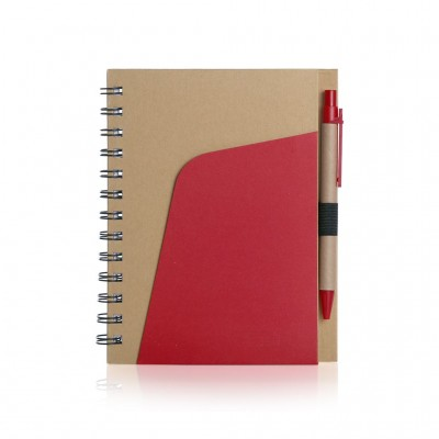 A5 Eco Friendly Kraft Paper Notebook with Pen