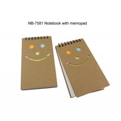 Notebook with Memopad