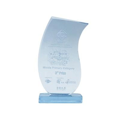 Blue  Acrylic Trophy