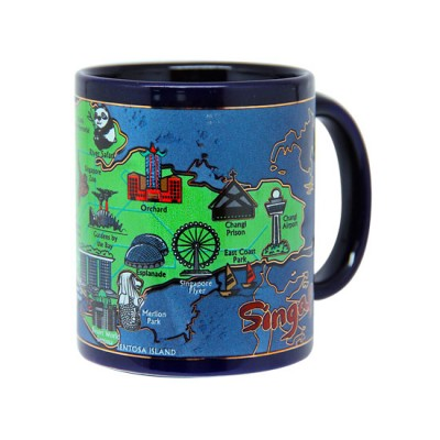 10oz Ceramic Blue Mug - Iconic Spore Map