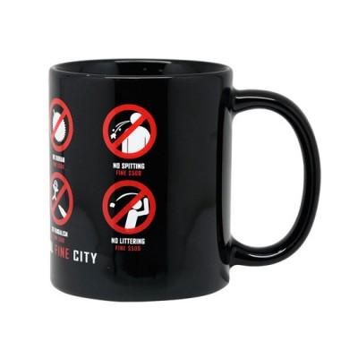 10oz Black Mug - Singapore Fine