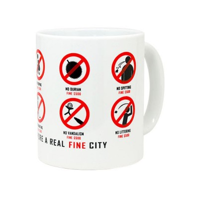 10oz White Mug - Singapore Fine