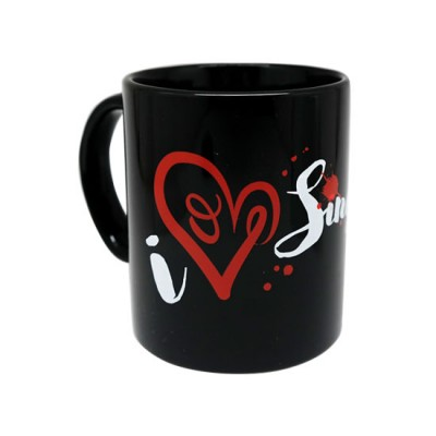 10oz Black Mug - I Heart Singapore