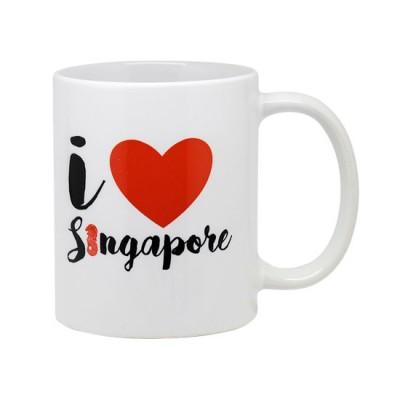 10oz White Mug - I Love Singapore