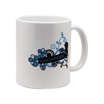 10oz White Mug - Cool Blue