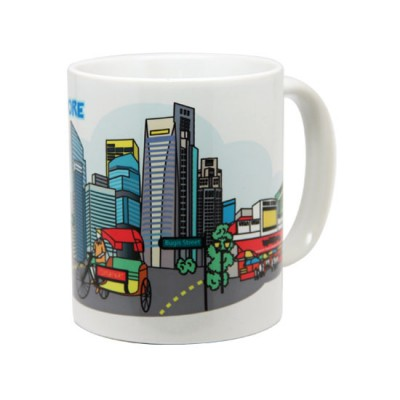 10oz White Mug - City Street Tour