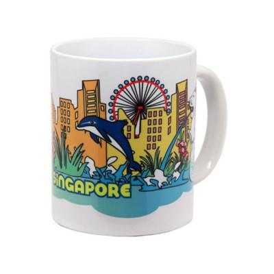 10oz White Mug - Lion City