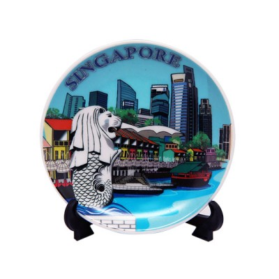 """4"""" Ceramic Plate with Stand - Clark Quay"""