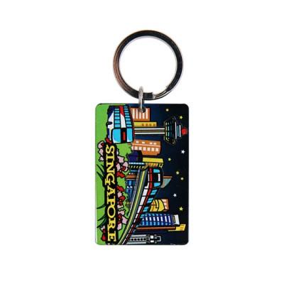 Acrylic Keychain - Sparkling Night Scene