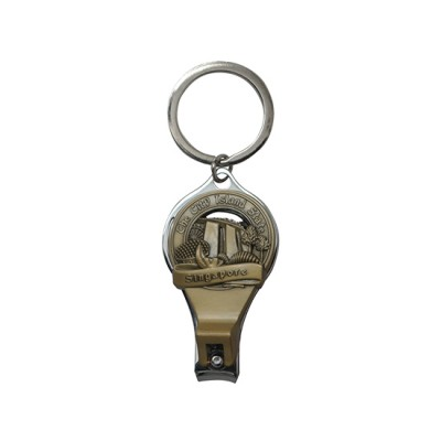 Nail Cutter Keyring - Design 4B (Bronze)