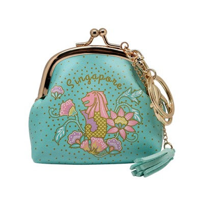 SG Keyring Coin Purse - Big Turquoise