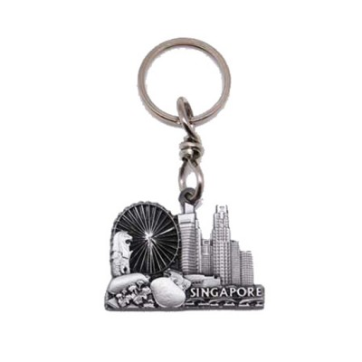 Pewter Keychain - SG Skyline