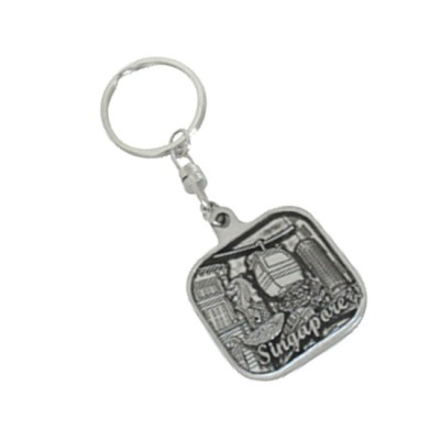 Pewter Keychain - Cable Car