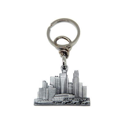 Pewter Keychain - Central Business District