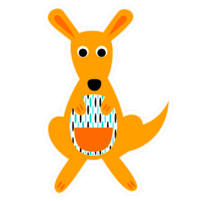 DQ-Magnet Dressed up Kangaroo