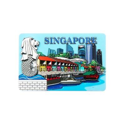 Acrylic Magnet - Clarke Quay with Skyline