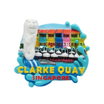 3D Glitter Polyresin Magnet - Clarke Quay