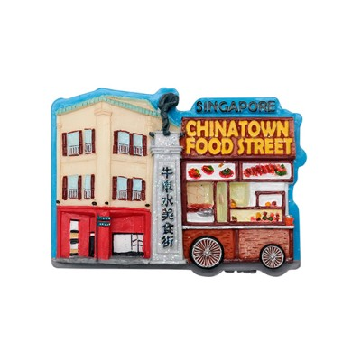 3D Glitter Polyresin Magnet - Chinatown Food Street