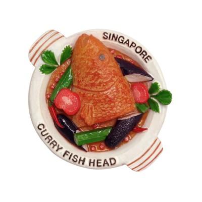 3D Polyresin Fridge Magnet - Curry Fish Head