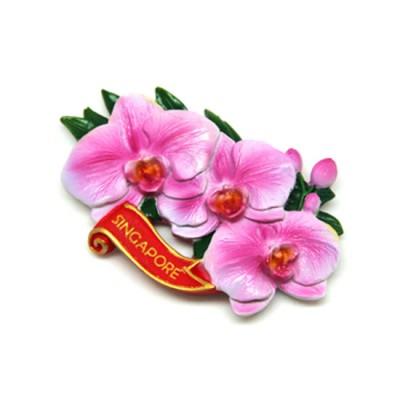 Flower Polyresin Magnet -  Doritaenopsis Luchia Pink