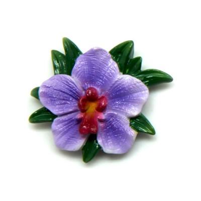 Flower Polyresin Magnet -  Vanda Pachara Delight