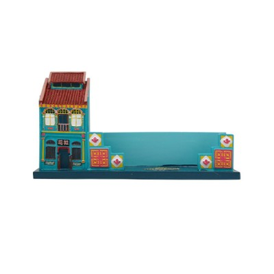 Peranakan House Polyresin Card Holder - Turquoise
