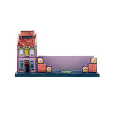 Peranakan House Polyresin Card Holder - Purple