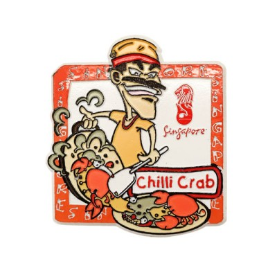 Singapore Food Magnet with Card - Chilli Crab
