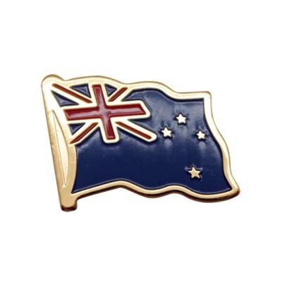 Collar Pin - New Zealand Flag