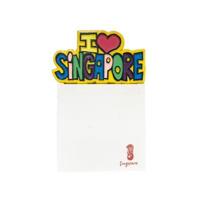 Magnetic Memo Pad - I Love Singapore